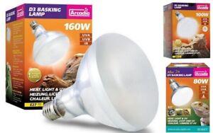 Arcadia-D3-UV-Basking-E-27-Lampe-80-100-160-Watt-Terrariums-de-Terrarium