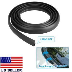 US Black Car Seal Under Front Windshield Panel Sealed Trim Moulding Strip Rubber