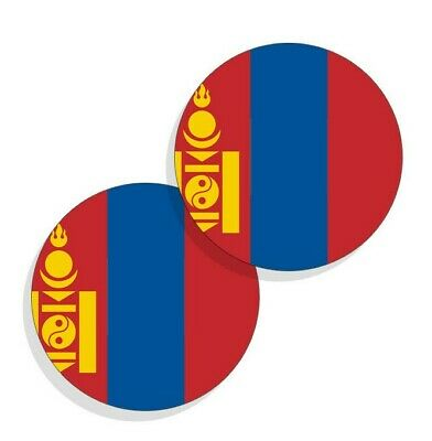 Isle of Man Flag Stickers Flag Decals Vinyl Round Indoor Outdoor Circles 4 pack