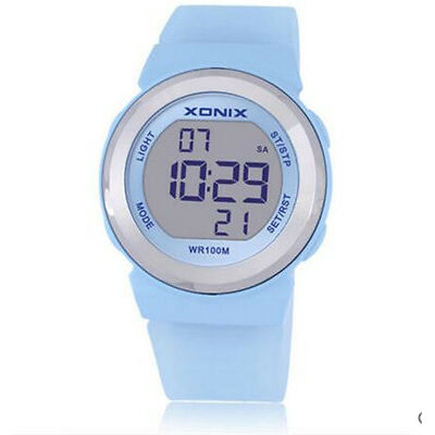 Xonix Women Sports Watch Digital Led Lighting WR100M Girl Swim Dress Watch