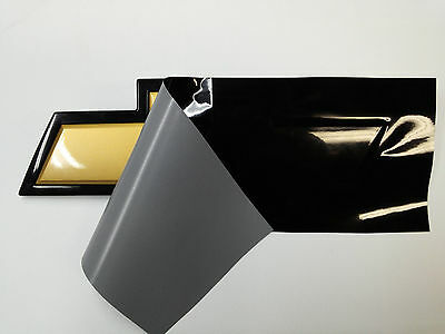 Black Vinyl Sheet KIT - 2- U-Cut Decal-Overlays for Chevy Bowtie Emblems