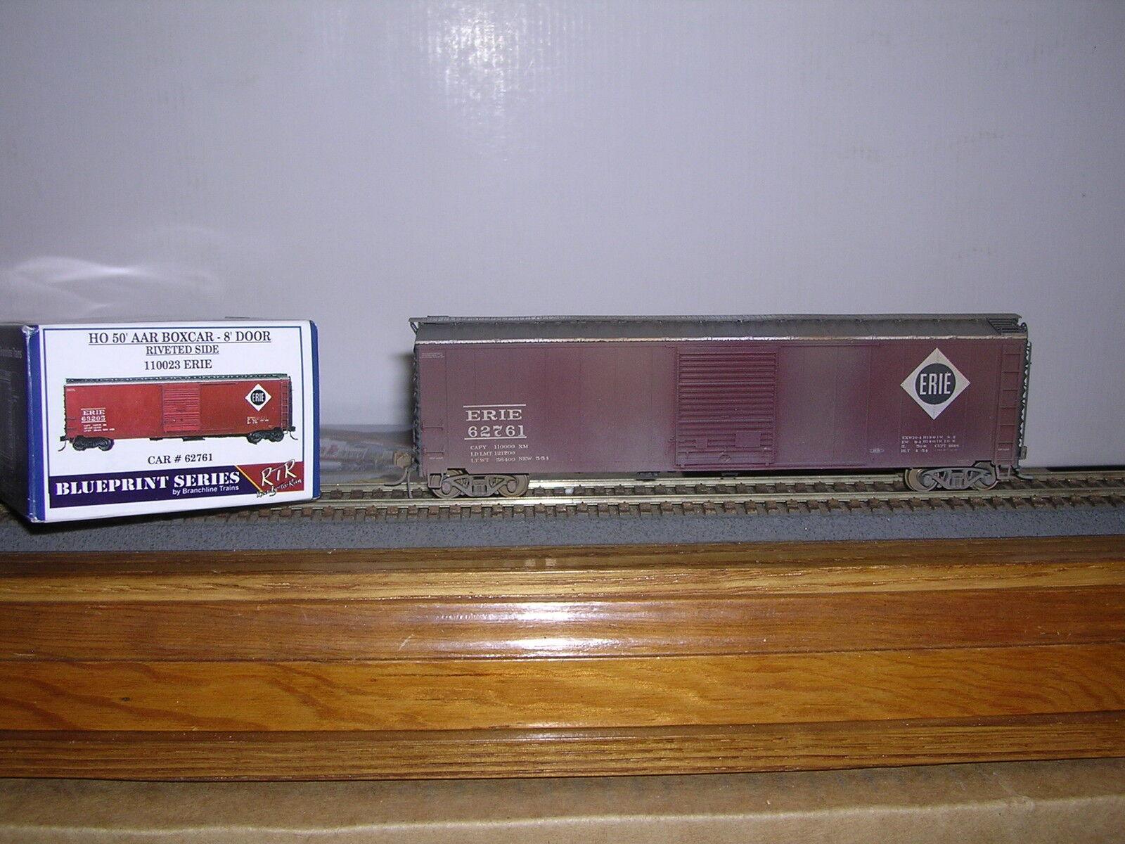 BRANCHLINE Erie 50' AAR Box Car w 8' Single Doors Weathered 1 87