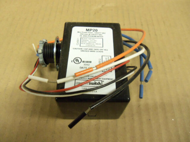 GE WIR-10-DR-G-D-A PIR Dual Relay Line Voltage Wallbox Occupancy Sensor 120//277V