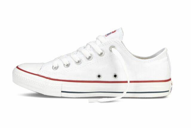 Converse All Star Ox Optical White Classic Low Top Sneaker Trainers M7652C 7fb74ae85