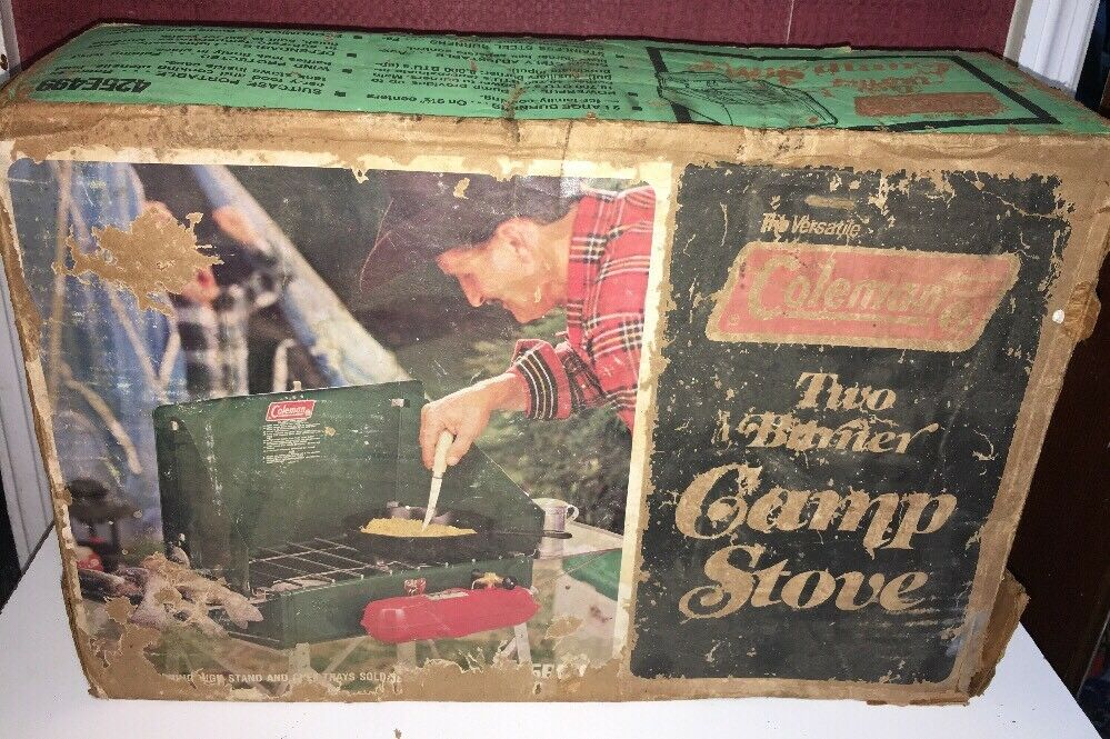 425E  Vintage 1970s Coleman  Two-Burner Camp Stove 425E499 w original box NICE  select from the newest brands like