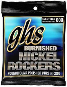 GHS-Burnished-Nickel-Rockers-Cordes-pour-guitare-electrique-BNR-ne-XL-Jauges-9-42