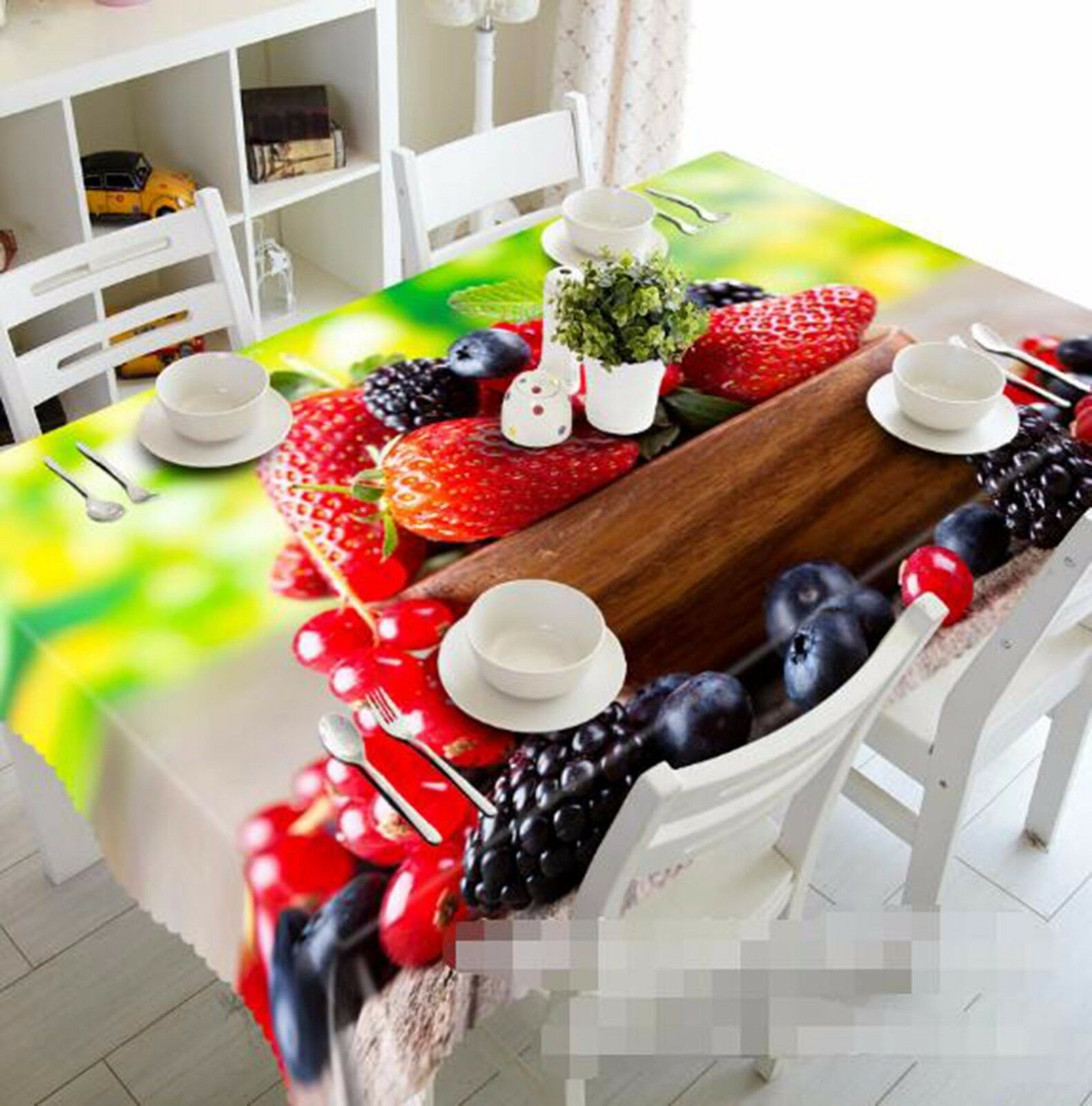 3D Fruit Farbe Tablecloth Table Cover Cloth Birthday Party AJ WALLPAPER UK Lemon