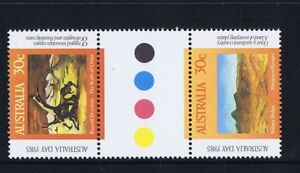 Australian-Decimal-Stamps-1985-Australia-Day-Paintings-Gutter-Set-2-MNH