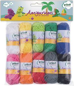Gründl Amigurumi 1 Wolle Baumwolle Set Häkeltiere Häkeln Kinder