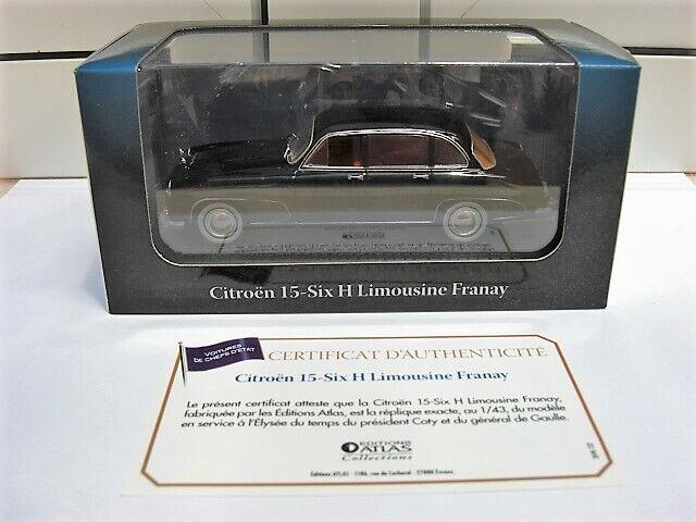 Citroen 15-Six H Limousine Franay Atlas MIB 1 43 2cv simca peugeot BEAUTIFUL