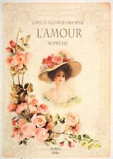 Rice Paper for Decoupage Decopatch Scrapbook Craft Sheet Vintage L'amour Lady