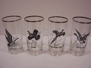 Image Is Loading Canada Goose Clear Tall Drinking Glasses Canadian Geese