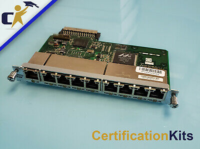 Cisco HWIC-D-9ESW-POE 9 Port POE HighSpeed Network Interface Card Tested//Working