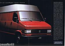 PUBLICITE ADVERTISING 105  1990  PEUGEOT  fascicule J 5 utiliatire ( 7p)