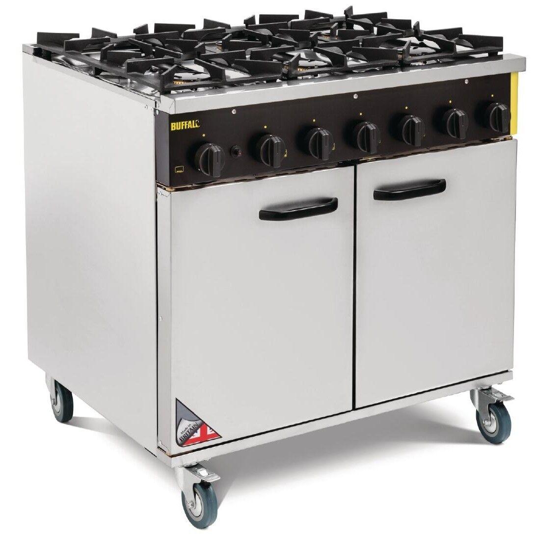 Buffalo Commercial 6 Burner Propane Gas Oven Range Cooker Ce371   eBay