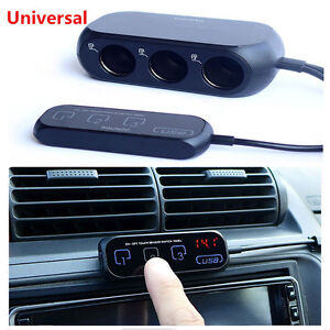 3 Way Car Cigarette Lighter Socket outlet AdapterSplitter Touch