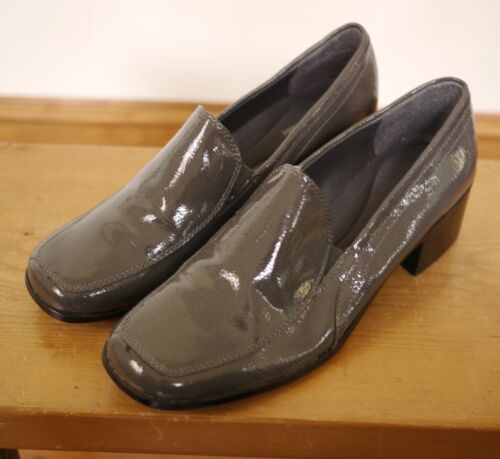 Naturalizer Gray Vegan Faux Patent Leather Chunky