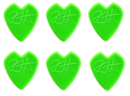 6 Stück Kirk Hammett Jazz III Plektren - Jazz Picks grün