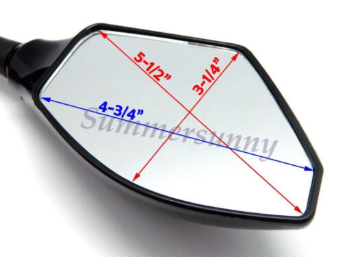LED Smoke Lens Turn Signal Light Blinker Indicator Racing Mirror For Motorcycle