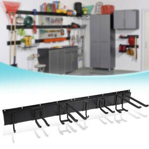 Garage-Wall-Organizer-W-9PC-Garage-Tool-Hooks-Garden-Tool-Storage-Rack-Black