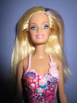 Miele B735-barbie Bionda Come Ninfa Acquatica Sirena Mattel 1998 Pinna Rimovibile + Top-l It-it Mostra Il Titolo Originale