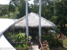 "BALI ""UMBUL UMBUL"" BLACK / WHITE 6 METER TRADITIONAL CHECK FLAG, PEACE, CARMA."