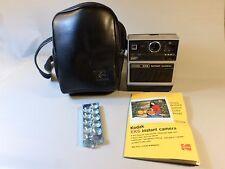 Vintage Kodak EK6 Instant camera with Kodak leather bag flash manual cartridge