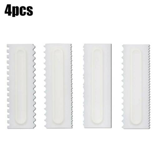 Cake Decorating Comb Icing Fondant Spatulas Smoother Scraper Pastry Baking Tools