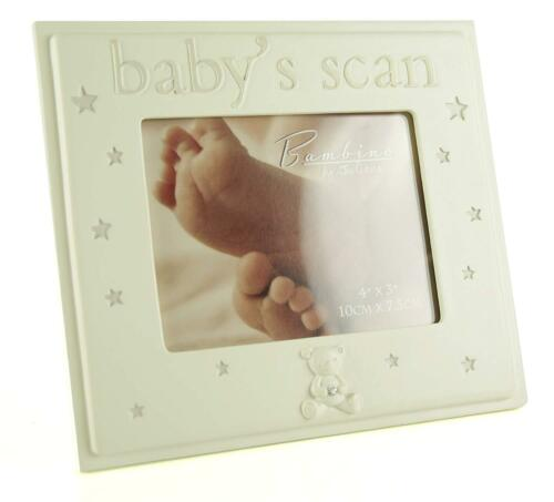 Cream Baby Ultrasound Scan Photo Frame Holder Gift Pregnancy Present