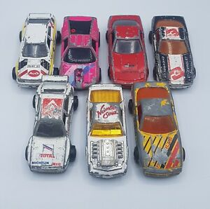 Lot-of-7-Vintage-Majorette-Die-Cast-Sports-Cars-Corvette-Audi-BMW-Pontiac-Retro
