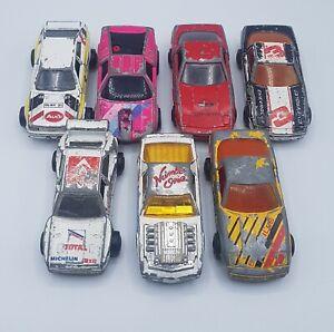 Lot-of-7-Vintage-Majorette-Die-Cast-Sports-Cars-Corvette-Audi-BMW-Pontiac-Retro