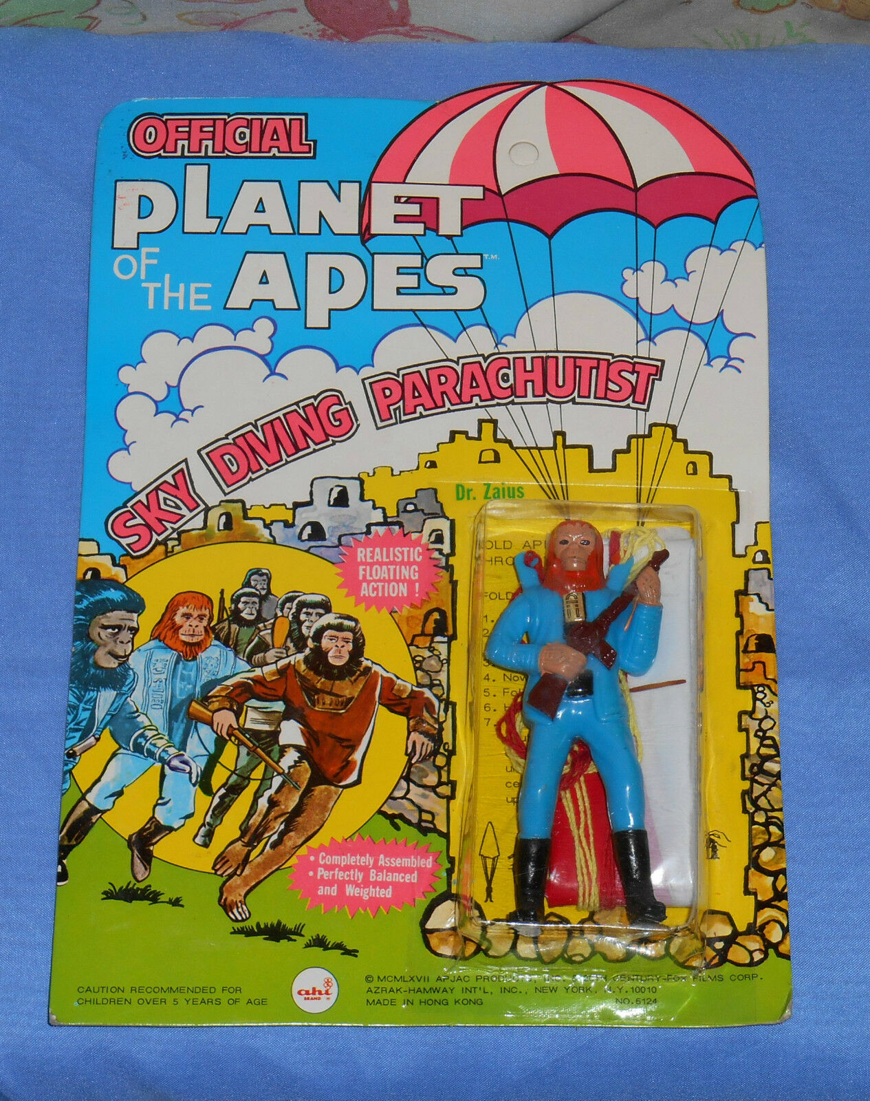 Vintage AHI Planet of the Apes POTA SKY DIVING PARACHUTIST MOC Dr. Zaius