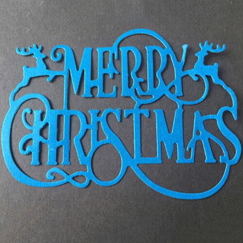 Merry Christmas Metal Cutting Die Stencil DIY Scrapbook Album Paper Card Gift Z