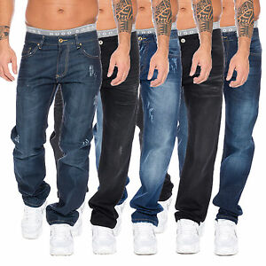 Rock-creek-herren-designer-jeans-hose-herrenjeans-stonewashed-denim-W29-W44-Mul5