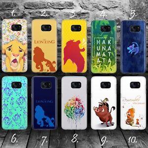 LION-KING-A-DISNEY-CARTOON-Samsung-S5-S6-S7-S8-S9-Edge-plus-phone-case-cover
