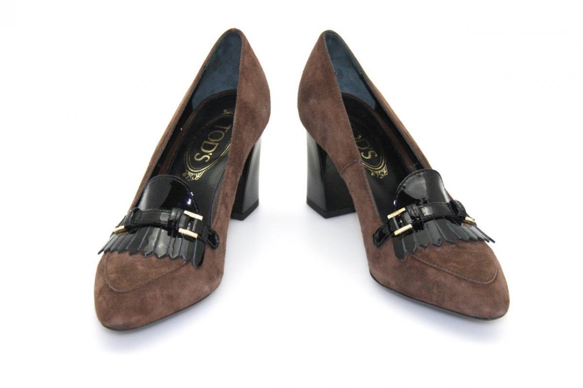 Lujo muerte's pumps pumps pumps zapatos t75 marrón nuevo New 37 37,5 b350b9