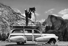 Ansel Adams at Half Dome, Yosemite, California - 1942 - Historic Photo Print
