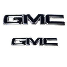 2014-2016 GMC SIERRA 1500 FRONT AND REAR BLACK W/ POLISHED EMBLEM 96514KP