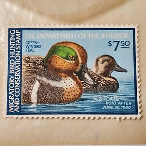 1979 US Federal Duck Stamp Green Winged Teal # RW46 Single Stamp MNH OG