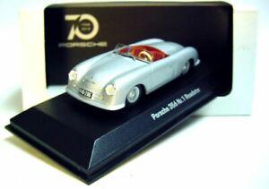 1-43-Minichamps-1948-Porsche-356-No-1-plateado-edicion-limitada-de-70-anos-Porsche-Museum-Promo