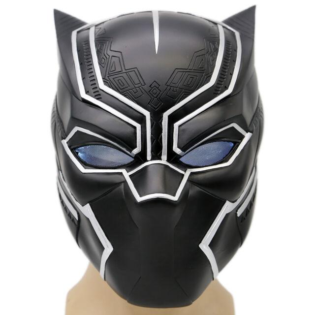 black panther helmet mask captain full head with led. Black Bedroom Furniture Sets. Home Design Ideas