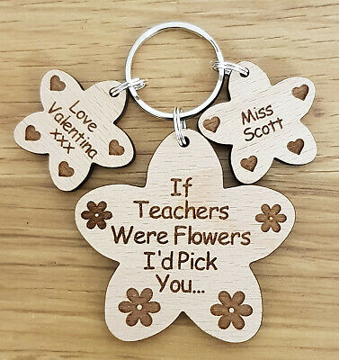 PERSONALISED GIFT FOR TEACHER SCHOOL NURSERY END OF YEAR TERM GIFTS KEYRING