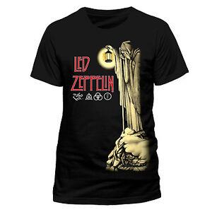LED-Zeppelin-Camiseta-ermitano-Licencia-Oficial-Rock-Clasico-Para-Hombre-Negro-Tee-Nuevo