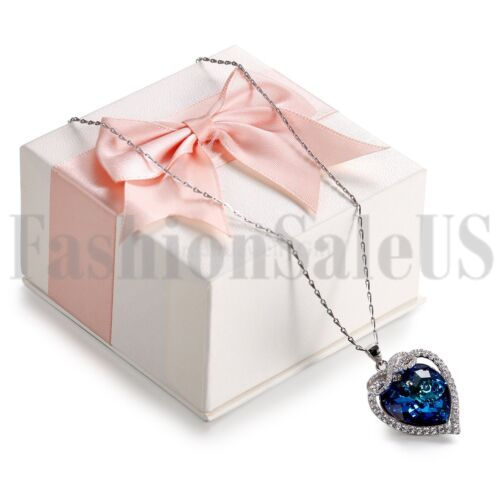 Women/'s Love Unlimited épissage Coeur Cristal Argent Sterling Collier Pendentifs