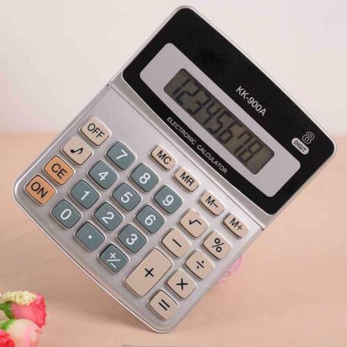 Taschenrechner Bürorechner 8 Stellige Knopf Batterie M6A5 b Tischrechner Re C0R2