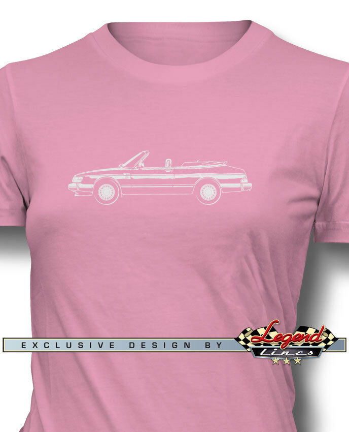 Saab 900 Turbo Congreenible Cabriolet T-Shirt for Women - Multiple colors & Sizes