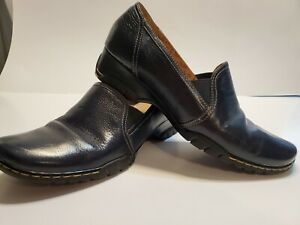 Sofft Flat Low Heel Leather Loafers - Women's US Size 8.5 M Navy - Career Shoes