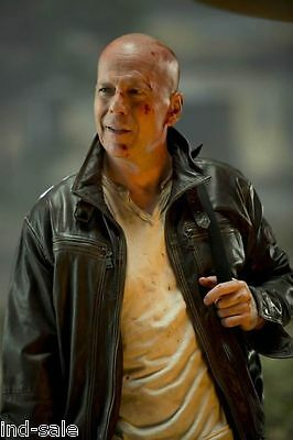 Custom Tailor Distressed Thick Leather Jacket Bruce Willis Die Hard 5 1St OnEbay