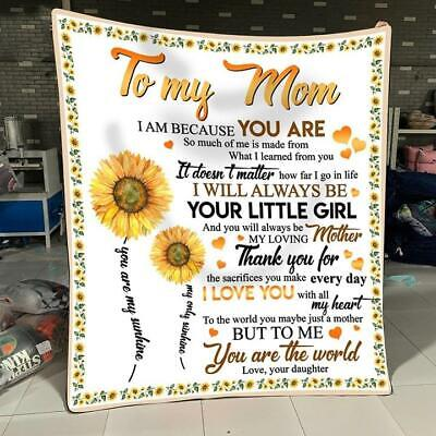 Sunflower To My Daughter Just Do Best Keep Your Face To Sunshine Fleece Blanket