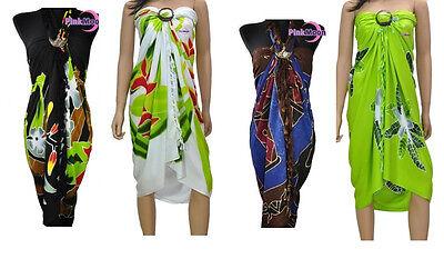Exclusive PAREO HANDGEMALT Sarong Badekleid Strandkleid 175 x 115 cm
